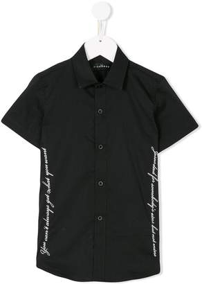 John Richmond Kids short sleeve printed shirt