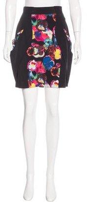 Karen Millen Silk Floral Print Skirt w/ Tags $75 thestylecure.com