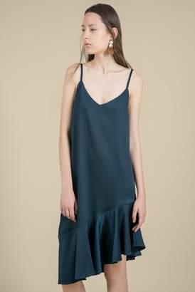 Genuine People Midi Slip Dress with Ruffles