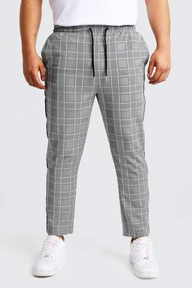Big & Tall Prince Of Wales Taped Cropped Jogger