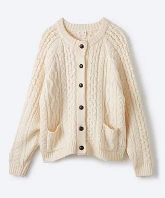 haco! 古着屋さんで見つけたようなもっふりケーブル編みカーディガン