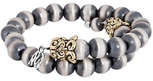 American West American West Silver and Brass Beaded Coil Bracelet