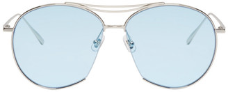 Gentle Monster Silver and Blue Jumping Jack Sunglasses