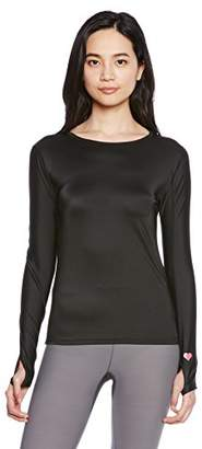 Janestyle (ジェーンスタイル) - (ジェーンスタイル) janestyle フィットネス コンフォートフィットクルーネック長袖シャツ[レディース] JS531 90 ブラック L