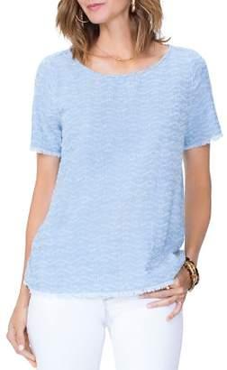 NYDJ Short-Sleeve Textured Top