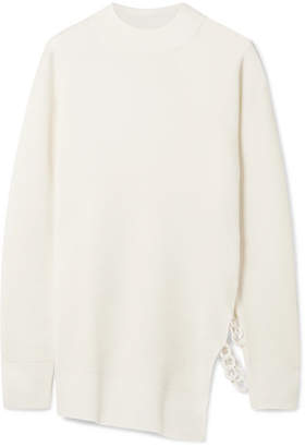 Carven Chain-embellished Wool-blend Sweater - Ecru