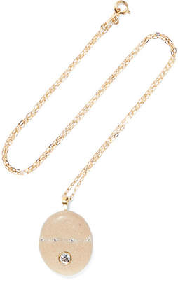 Cvc Stones Crema 18-karat Gold, Stone And Diamond Necklace