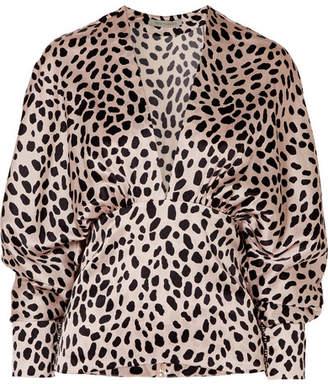 Silvia Tcherassi Emily Leopard-print Silk-blend Satin Blouse