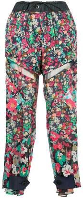 Sacai floral print trousers