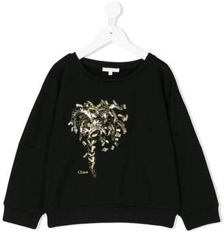 Chloé Kids appliqué sweatshirt