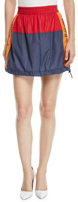 Opening Ceremony Warm-Up Colorblock Logo Mini Skirt