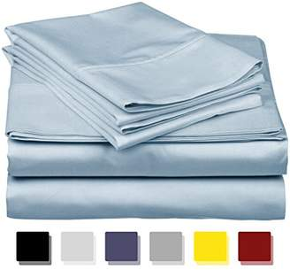 Thread Spread True Luxury 100% Egyptian Cotton - Genuine 1000 Thread Count 4 Piece Sheet Set- Color Light Blue