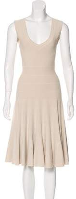 Alaia Sleeveless Fit and Flare Dress
