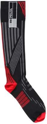 Prada Logo Stretch Nylon Knit Socks