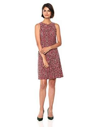 Nine West Women's Sleeveless Printed Trapeze Dress