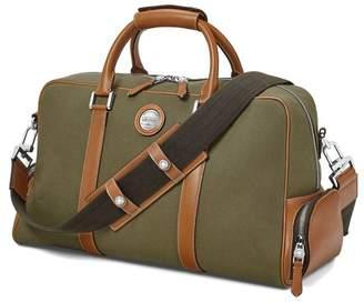 Aspinal of London Aerodrome 48 Hour Mission Bag In Dark Brown Pebble