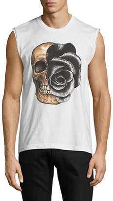 Dom Rebel Rose Skull Tank Top
