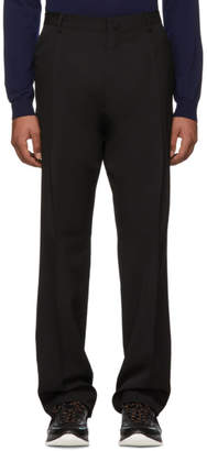 Lanvin Black Wool Pleated Trousers