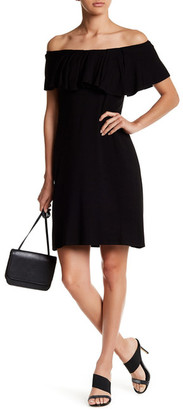Bobeau Ruffle Off-the-Shoulder Dress $68 thestylecure.com