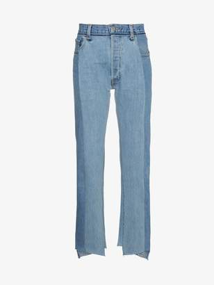 Vetements Reworked high waist cropped denim jeans