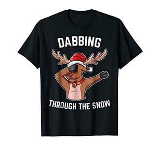 DABBING THROUGH THE SNOW Kids Shirt Youth Boys Girls Gift