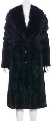 Valentino Shawl Collar Fur Coat