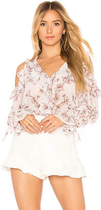 BCBGMAXAZRIA Laurenne Long Sleeve Blouse