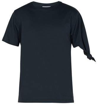 J.W.Anderson Knotted Cotton T Shirt - Mens - Navy
