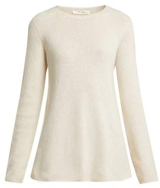 The Row Sabel Fluted Cashmere Blend Sweater - Womens - Ivory