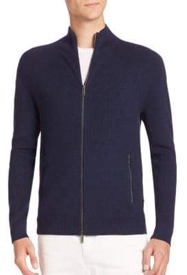 Michael Kors Cotton-Blend Zip Cardigan