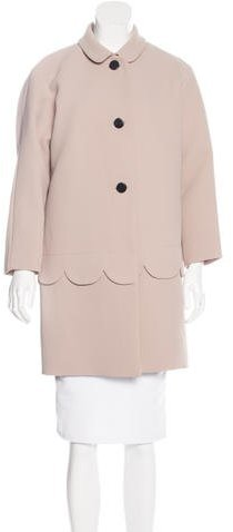 Kate Spade Kate Spade New York Scalloped-Trim Button-Up Coat w/ Tags