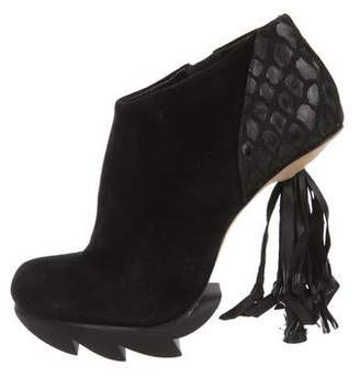 Camilla Skovgaard Leather Round-Toe Ankle Boots