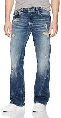 True Religion Men's Billy Boot Cut Jean with Flap Back Pockets