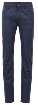 BOSS Hugo Regular-fit jeans in stretch denim multicolored check 34/34 Dark Blue