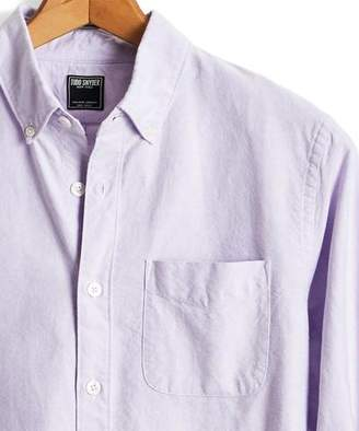 Todd Snyder Japanese Selvedge Oxford Button Down Shirt in Lavender