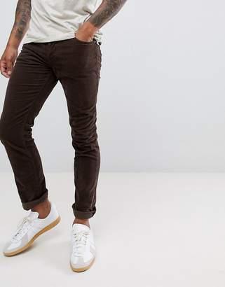 Nudie Jeans Grim Tim Slim Trousers Velvet Choko