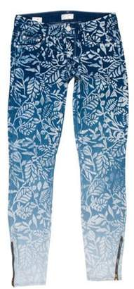 Mother Looker Ankle Zip Low-Rise Jeans white Looker Ankle Zip Low-Rise Jeans