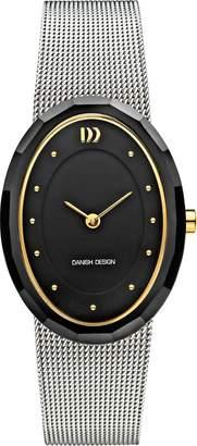 Danish Design Women's Steel Bracelet Ceramic Case Quartz Black Dial Analog Watch IV69Q1170