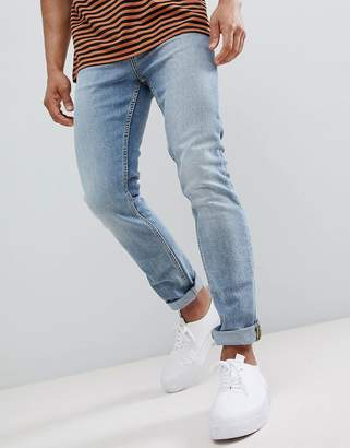 New Look Slim Jeans In Light Blue Wash