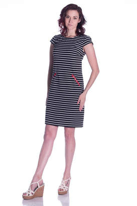 Chetta B Striped Knit Dress