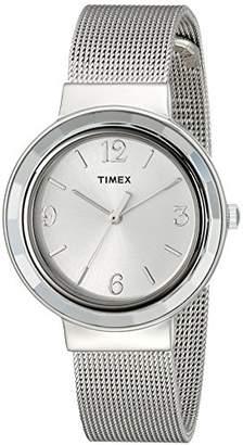 Timex Women's T2P196KW Ameritus -Tone Stainless Steel Mesh Bracelet Dress Watch