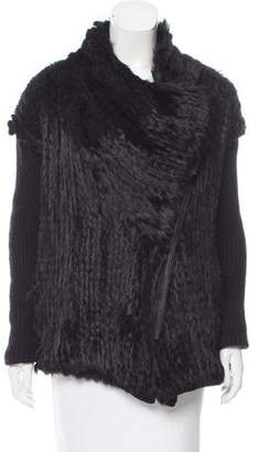 Helmut Lang Wool-Accented Fur Jacket