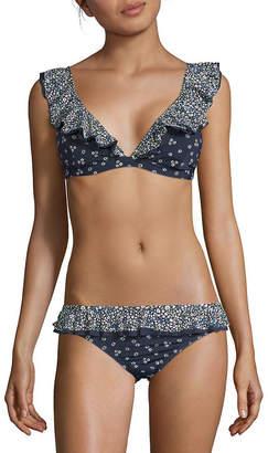 MICHAEL Michael Kors Ruffled Bikini Top
