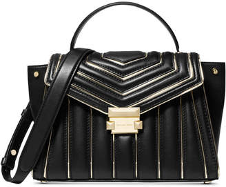 Michael Kors Whitney Quilted Outlined Top Handle Satchel
