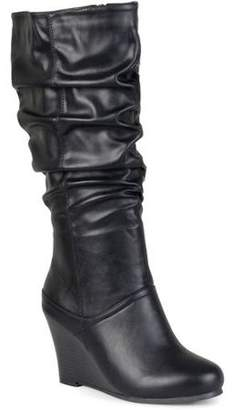 Co Brinley Women's Wide Calf Slouchy Wedge Boots