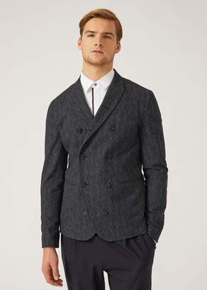 Emporio Armani Unlined Double-Breasted Cotton Jacket