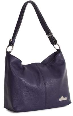 LiaTalia Vera Pelle Made In Italy LiaTalia Genuine Italian Leather Uniquely Adjustable Shoulder Strap Sized Hobo Bag with Dust Protection Bag - Emmy
