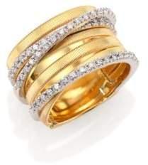 Marco Bicego Goa Diamond, 18K Yellow& White Gold Seven-Row Ring