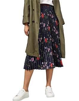 Ted Baker Luish Hedgerow Pleated Midi Skirt