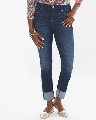 So Slimming High Cuff Girlfriend Ankle Jeans